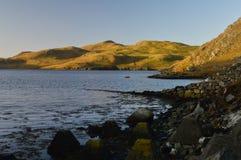 Beau paysage sur les Îles Shetland Image stock