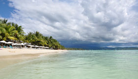 Beau paysage tropical de Boracay Photos stock