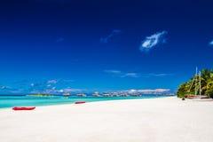 Beau paysage tropical, Maldives Photographie stock libre de droits