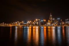 Beau paysage urbain de bâtiment d'architecture dans la ville de Hong Kong photo libre de droits