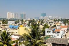 Beau paysage urbain de Bangalore dans le jour ensoleillé photographie stock