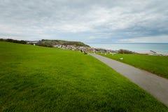 Beau paysage urbain de Hastings en Angleterre images libres de droits