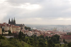 Beau paysage urbain de Prague Image stock