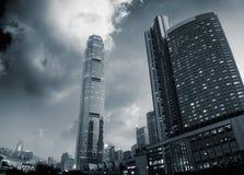 Beau paysage urbain des gratte-ciel Photos stock