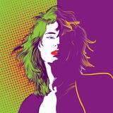 Beau personnage féminin Fatale de Femme Décoration de mur illustration libre de droits