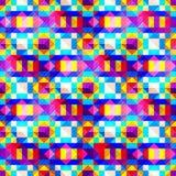 Beau petit modèle sans couture géométrique coloré de pixels Photographie stock libre de droits