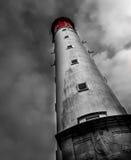 Beau phare dans Cap Ferret ; Frances, couleurs sélectives photographie stock libre de droits