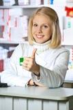 Beau pharmacien Image libre de droits