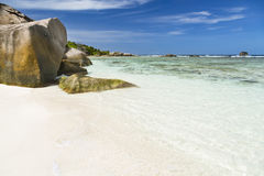 Beau pierrot d'Anse, La Digue, Seychelles Images libres de droits