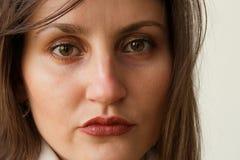 Beau plan rapproché de visage de femme. Photos stock
