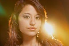 Portrait ethnique multi de charme de jeune femme Photo libre de droits