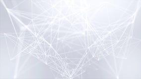 Beau plexus Fond futuriste de boucle de composition en abrégé sur technologie illustration stock
