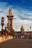 Beau pont d'Alexandre III Photo stock