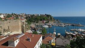 Beau port d'Oldtown dans le secteur d'Antalyas Kaleici, Turquie Images stock
