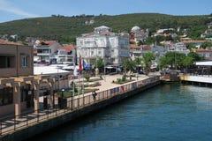 Beau port de prince Island Burgazada en mer de Marmara, près d'Istanbul, la Turquie photos stock