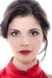 Beau portrait caucasien sérieux de femme photo libre de droits