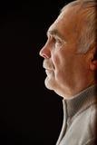Beau portrait d'un homme supérieur songeur Photo stock