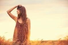 Beau portrait d'une fille heureuse insouciante Photo libre de droits