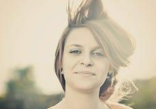 Beau portrait de fille Photo libre de droits