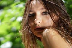Beau portrait de fille avec le bokeh gentil photo libre de droits