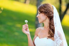 Portrait de jeune mariée Photo stock