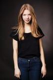 Beau portrait de l'adolescence de fille photo libre de droits