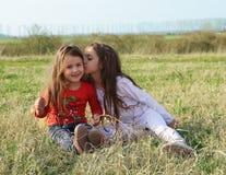 Beau portrait de petites filles Images libres de droits