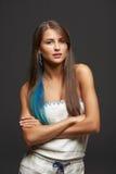 Beau portrait génial de fille Photographie stock libre de droits