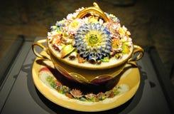 Beau pot de porcelaine photo stock