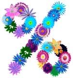 Beau pourcentage décoratif de symbole de différentes couleurs Image libre de droits