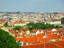 Beau Prague, vue d'en haut Images stock
