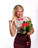 Beau professeur avec des fleurs Photo libre de droits