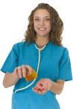 Beau professionnel de sourire de soins de santé Photographie stock libre de droits