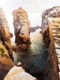 Beau promontoire en mer Méditerranée Photographie stock
