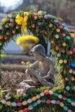 Beau puits de Pâques Photos libres de droits