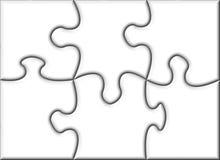 Beau puzzle denteux transparent blanc Photo libre de droits