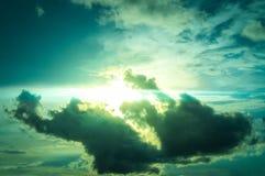 Beau résumé de ciel et de nuage, utilisé comme fond et texture photos libres de droits