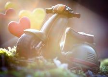 Beau rétro jouet de moto Images stock