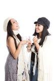 Beau rire asiatique heureux de femmes Photo libre de droits