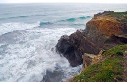 Beau rivage du nord de l'Espagne photographie stock