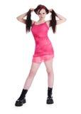 beau rose de fille de robe photographie stock libre de droits