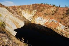 beau rouge Espagne de lac photographie stock