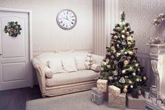 Beau salon avec Noël Photos libres de droits