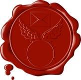 Beau salut a détaillé le sceau de cire Photo libre de droits