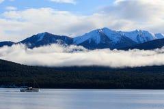 Beau sceninc d'île du sud Nouvelle Zélande d'anau de te de lac photos stock