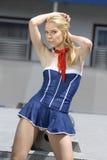 Beau seawoman junior blond Images stock