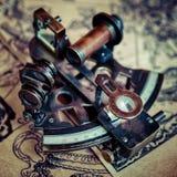 Beau sextant de marine de vintage photo libre de droits