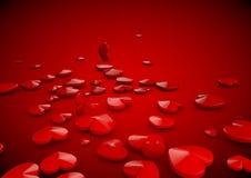 Shinny l'illustration de coeur de fond de l'amour 3D Photos stock