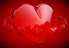 Shinny l'illustration de coeur de l'amour 3D Image stock