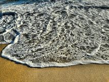 Beau Shoreline de plage la Californie de coucher du soleil Photo libre de droits